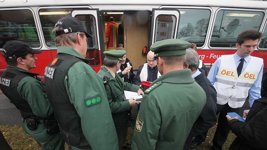 Dezember 2011, Alarm in Schweinau: Ein explosiver Blindgänger wurde in der Hansastraße gefunden.