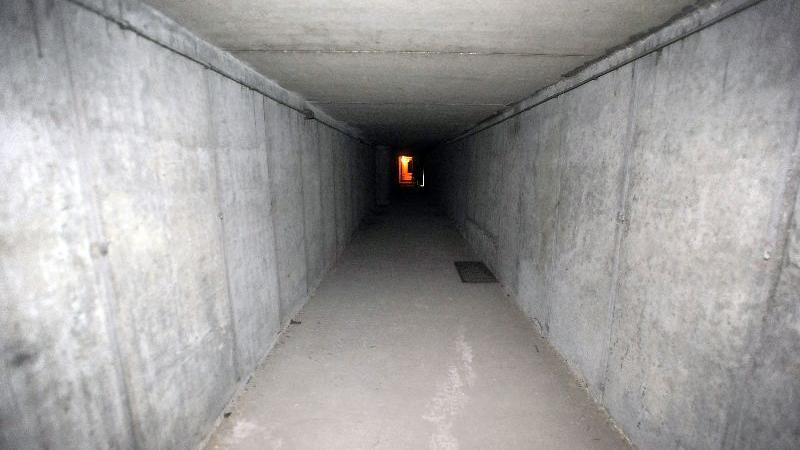 Schutzraum in der Tiefgarage des City-Centers