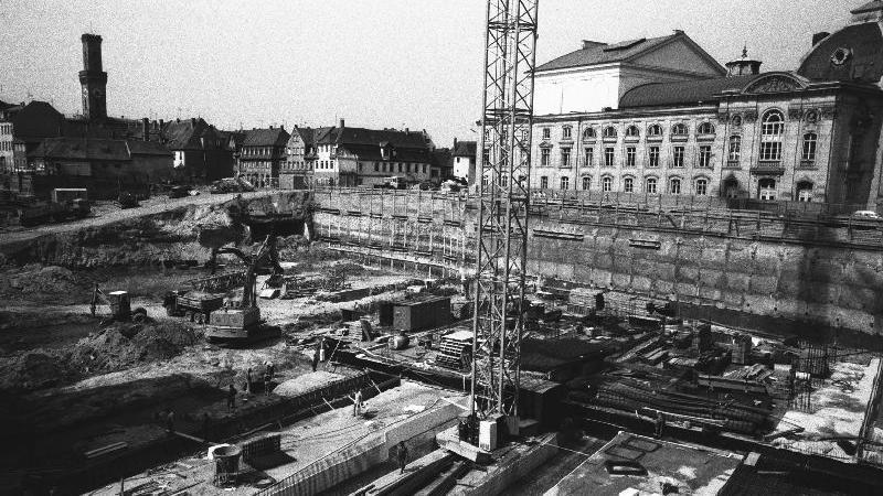 Baufortschritt im August 1983.