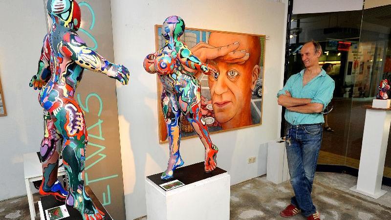 In den letzten Jahren lockte das Art-Kunstschaufenster auch Kunstfreunde ins City-Center.