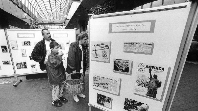 Ausstellung zum zehnjährigen Bestehen des City-Centers im Jahr 1995.