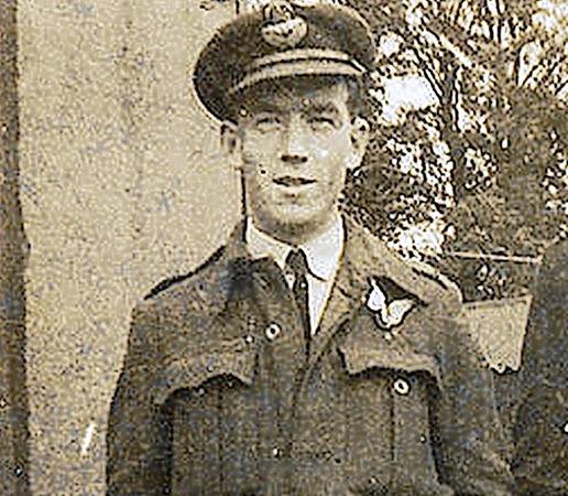 Ted Nestor, Navigator der EH 985, der den Absturz überlebte.