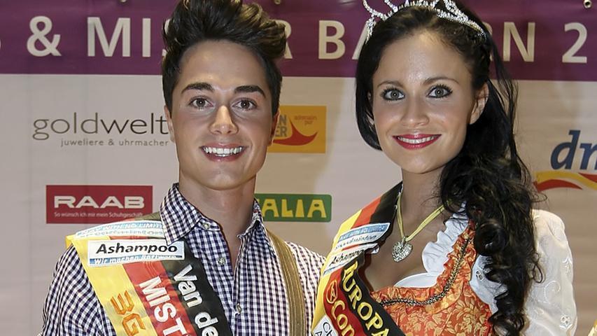 """Dominic Fischer und Christina Trost sind """"Mister und Miss Bayern""""."""