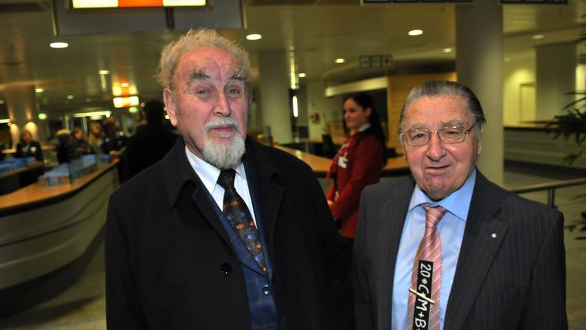 Treuer Weggefährte: Eine tiefe Freundschaft verband Bruno Schnell bis zu dessen Tod 2013 mit dem Vorsitzenden der Israelitischen Kultusgemeinde und Nürnberger Stadtrat Arno Hamburger.