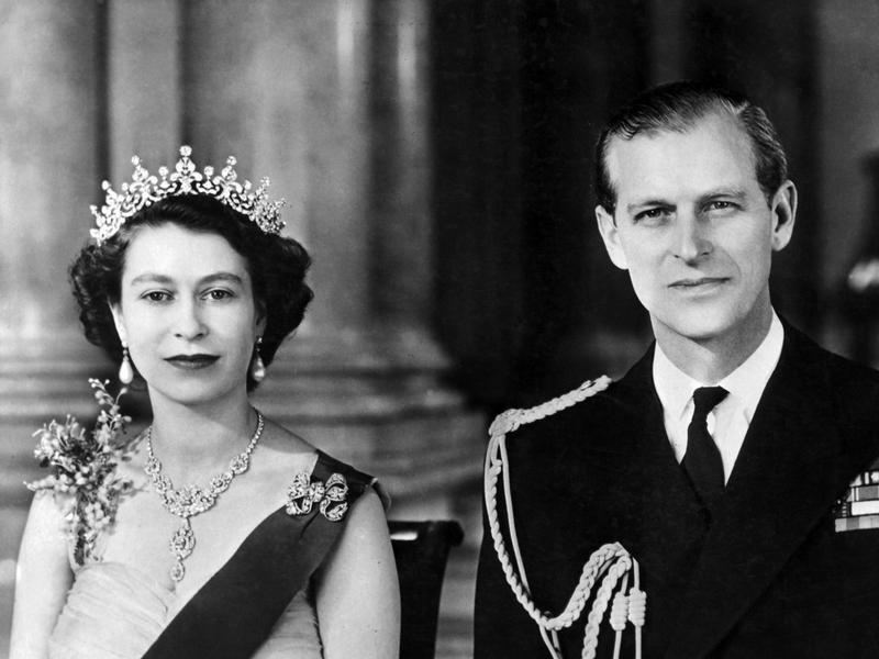Queen Elizabeth II. mit ihrem Gatten Prinz Philip (1954).