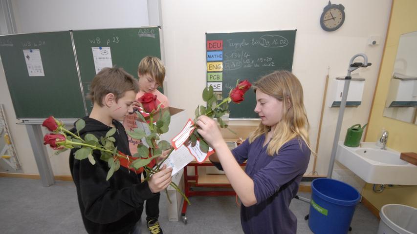 In den einzelnen Klassen wurden die Geschenke schließlich verteilt.