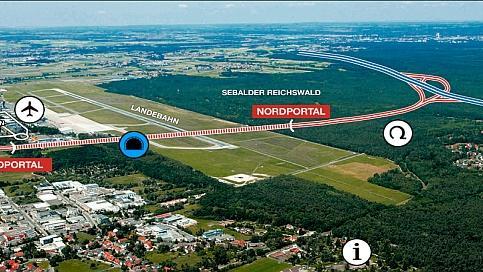 3,5 km Gesamtstrecken, 1180 m Tunnel, 58 Mio. Euro Kosten. Das sind die Eckdaten der geplanten Nordandbindung.