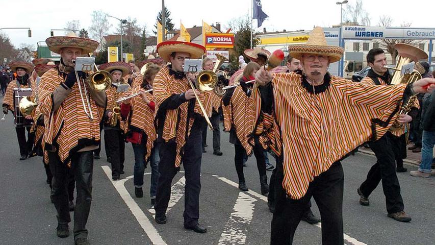 Diese mexikanischen Musikanten sorgten für Stimmung.