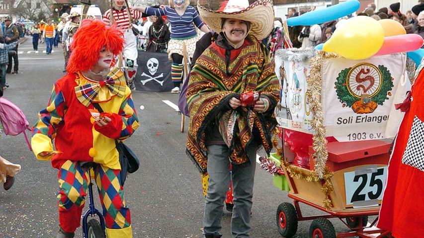 Das Clownskostüm kommt niemals aus der Mode.