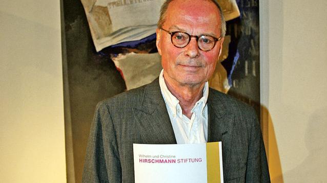 Litaraturpreisträger Wolf Wondratschek.