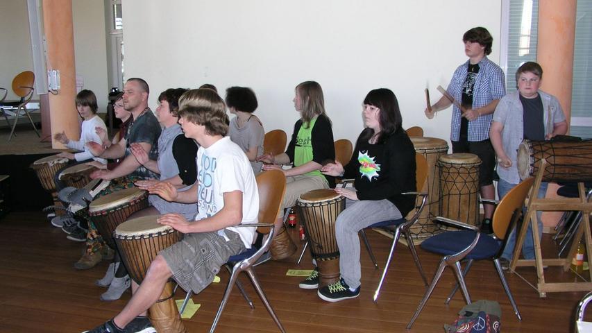 Die Trommelgruppe aus Hermsdorf