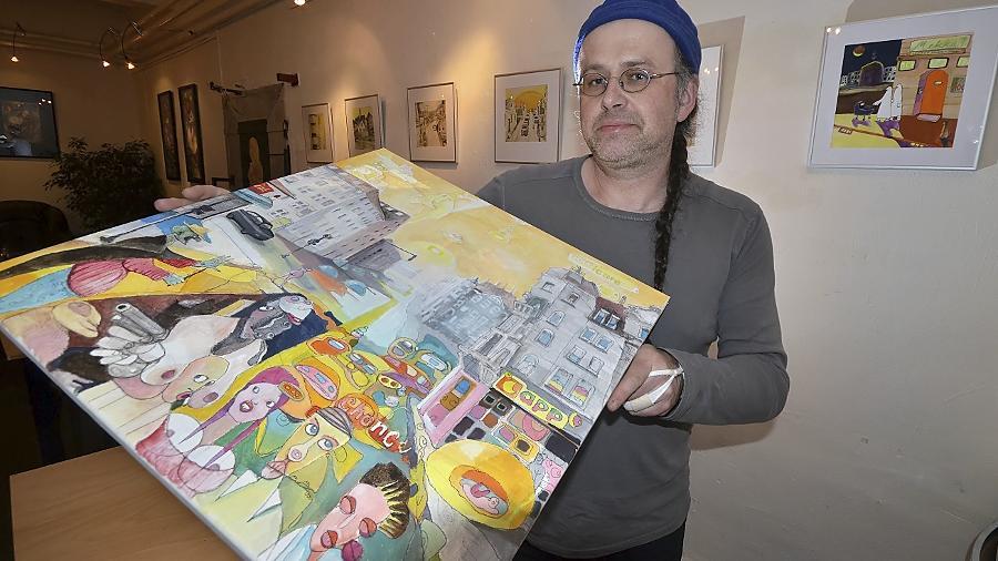 Pointierter Stil mit vielen Querverbindungen: Anton Hantschel, der aus der Oberpfalz stammt, ist seit 1990 freischaffender Illustrator und Künstler.