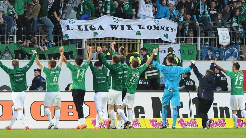 Rechnerisch war nach dem Sieg gegen St. Pauli zwar noch nicht alles in trockenen Tüchern, doch nicht nur Spieler und Fans wussten an jenem denkwürdigen Abend des 13. April bereits: