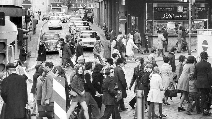50 Jahre: Der Wandel der Nürnberger Fußgängerzone