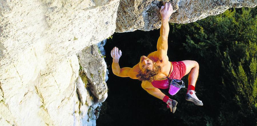 Der Nürnberger Kurt Albert war einer der berühmtesten Kletterer der Welt. Das Bild von seiner Free-Solo-Tour in der Route