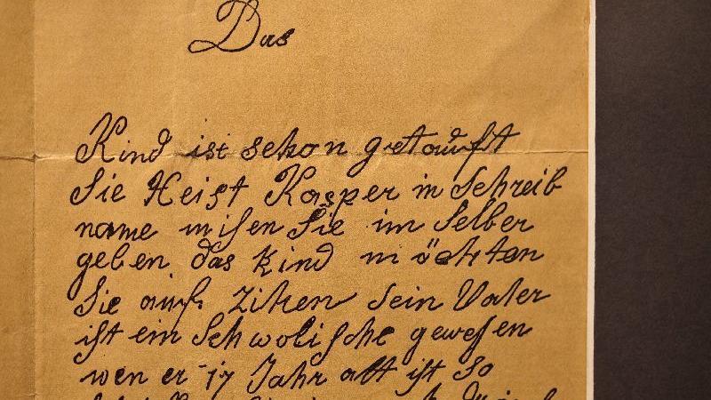 Laut dem Brief, dessen Kopie sich im Markgrafen-Museum in Ansbach befindet,  will sie den Jungen am 30. April 1812 geboren und danach ausgesetzt haben.