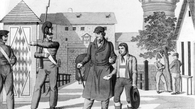 Am Pfingstmontag 1828 tauchte in Nürnberg ein verstört wirkender Junge auf, der kaum sprechen konnte und nur einen Brief seiner Mutter bei sich trug.