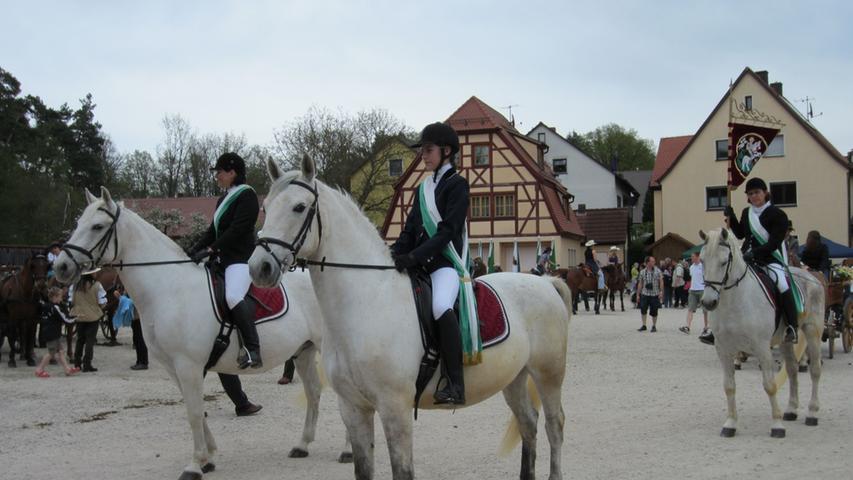 Kostümierte Reiter und geschmückte Pferde waren ein schöner Anblick.