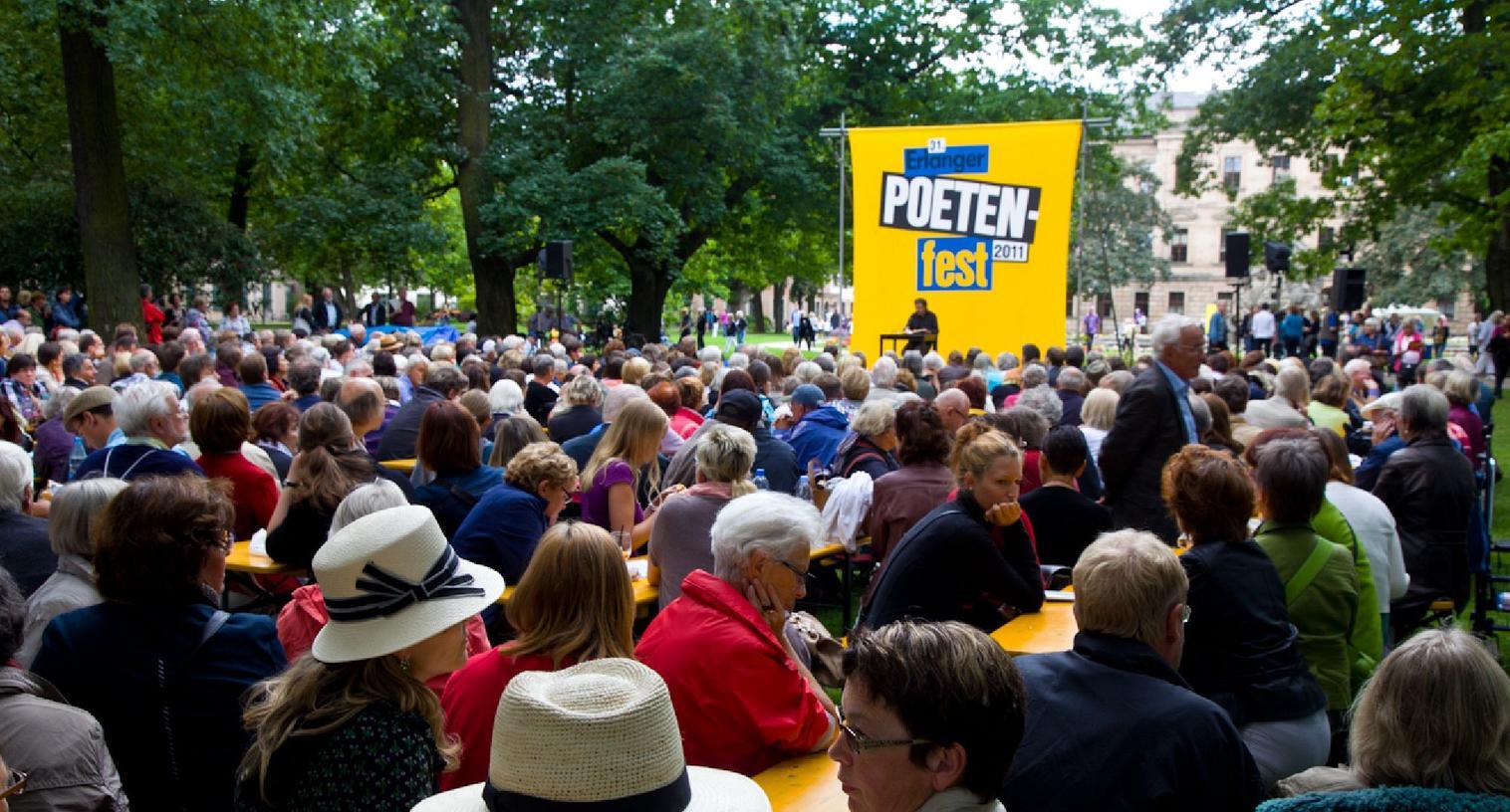 Der Sponsor bleibt: Auch dieses Jahr unterstützt Areva das Erlanger Poetenfest.