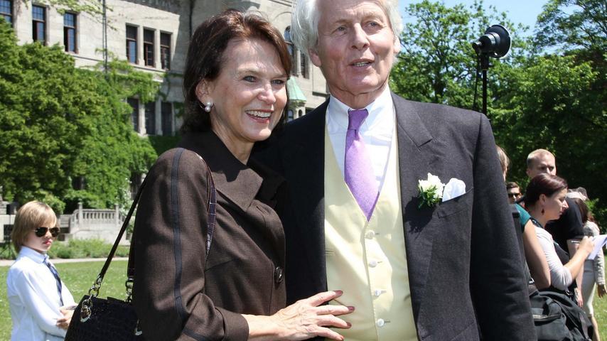 Die Eltern des Bräutigams: Mutter Mary, Vater Anton-Wolfgang Graf von Faber-Castell.