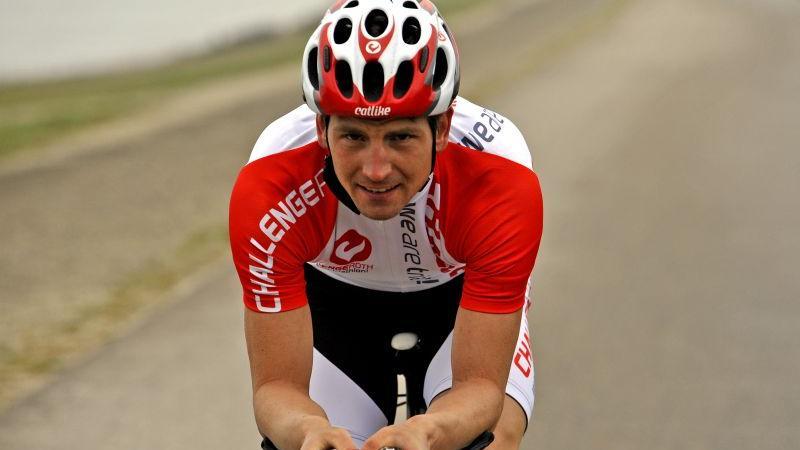 Spaß beim Training, auch wenn es sechs Stunden dauert: Triathlet Michi Hofmann.