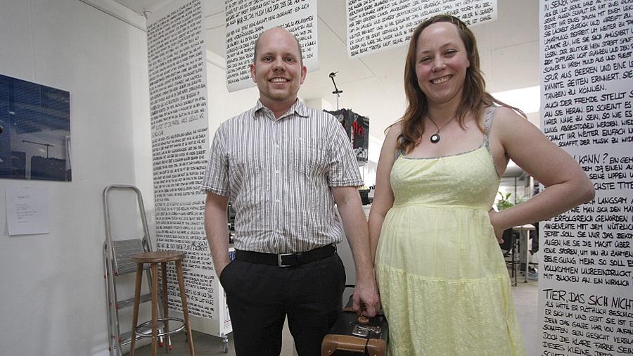 """Bernhard Uhrmann und Stella Springhart haben das Projekt """"Kunstwandler"""" ins Leben gerufen."""