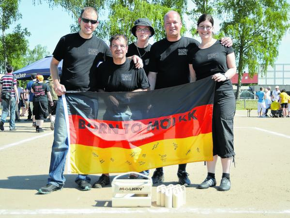 """Die Titelverteidiger schwächelten diesmal ein wenig: """"Born to Mölkk"""" landete bei der Meisterschaft nur im Mittelfeld."""
