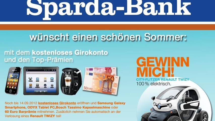 Die Sparda-Bank Nürnberg wünscht Ihnen viel Spaß beim diesjährigen Bardentreffen vom 27. bis 29. Juli!