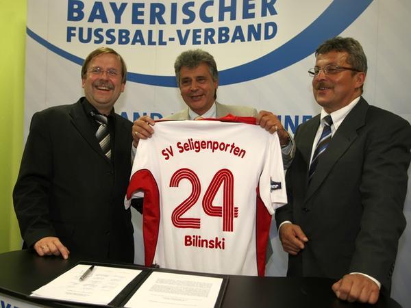 Den SV Seligenporten  repräsentierte der stellvertretende Abteilungsleiter Josef Staufer.
