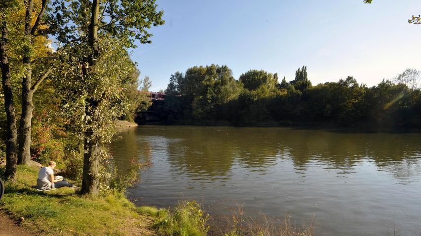 Der See ist insgesamt 2,6 Kilometer lang und 52 Hektar groß und besteht aus zwei Teilen: Dem Unteren Wöhrder See mit einer Länge von 1400 Metern, zwischen Adenauer-Brücke und Bahnbrücke, auf der Höhe des Sebastianspitals, sowie dem Oberen Wöhrder See mit einer Länge von 1200 Metern, der an den Unteren Wöhrder See sich anschließt und bis zur Ludwig-Erhard-Brücke reicht.
