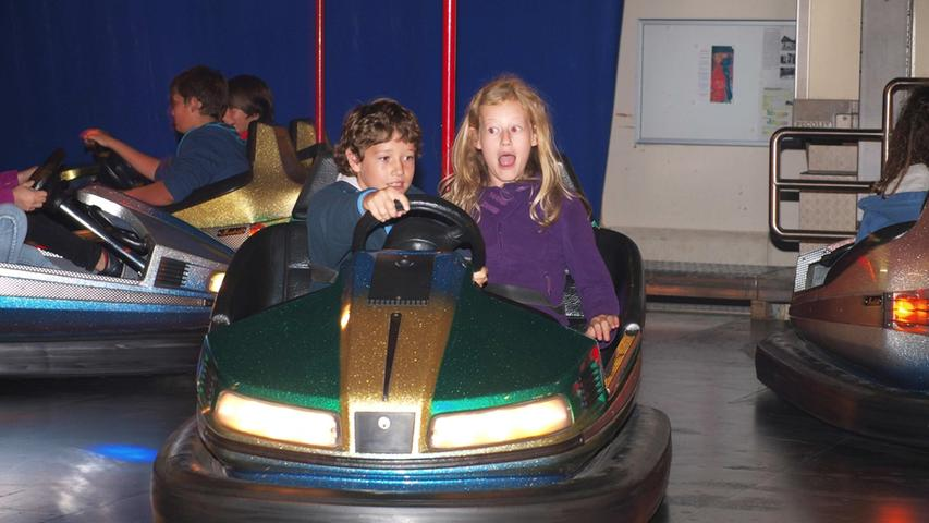 Beim Autoscooter hatten die Kinder ihren Spaß...