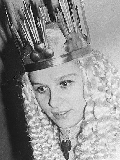 Irene Brunner - die Schauspielerin am Nürnberger Theater war von 1961 bis 1968 Christkind.