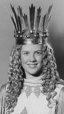 Doris Kormann (verheiratete Reinelt) tratin den Jahren 1987 und 1988 als das 10. Christkind auf.