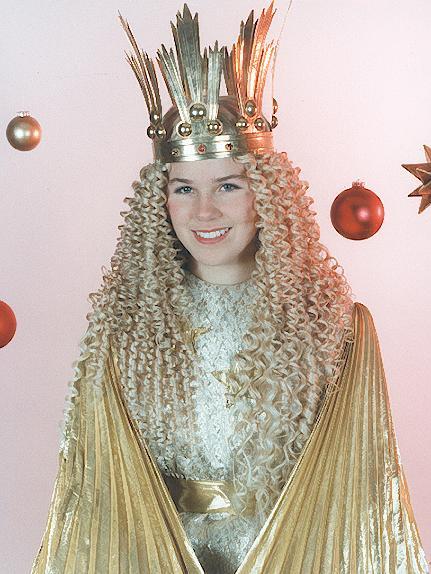 In den Jahren 1997 und 1998 war Katrin Urschel das Nürnberger Christkind.