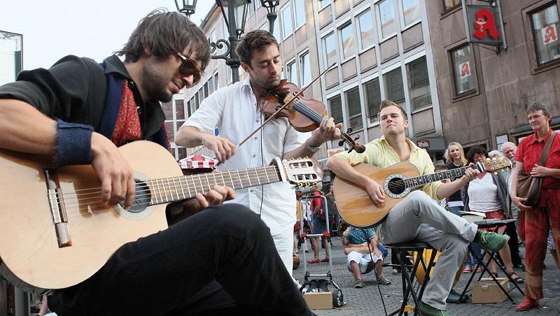 Die Band Cobario kam extra aus Österreich zum Bardentreffen.