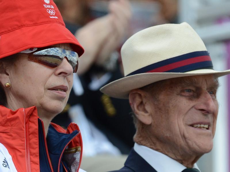 Prinzessin Anne und Prinz Philip bei den Olympischen Spielen.