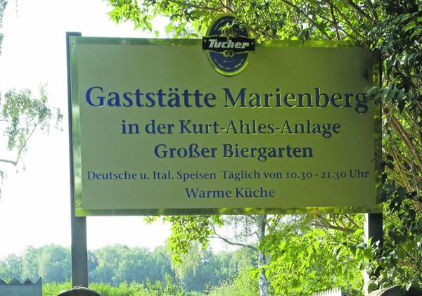 Inmitten einer Idylle liegt die Gaststätte Marienberg in der Kleingartenkolonie Kurt Ahles.