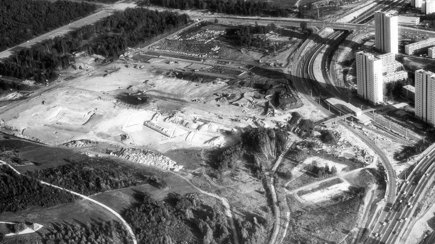 20. Oktober 1971: Danach wurde zügig mit dem Bau begonnen, wie dieses historische Luftbild zeigt.
