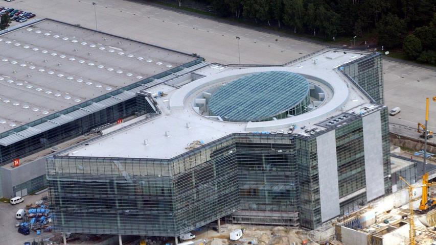 31. August 2004: Luftaufnahmen vom CCN Ost.