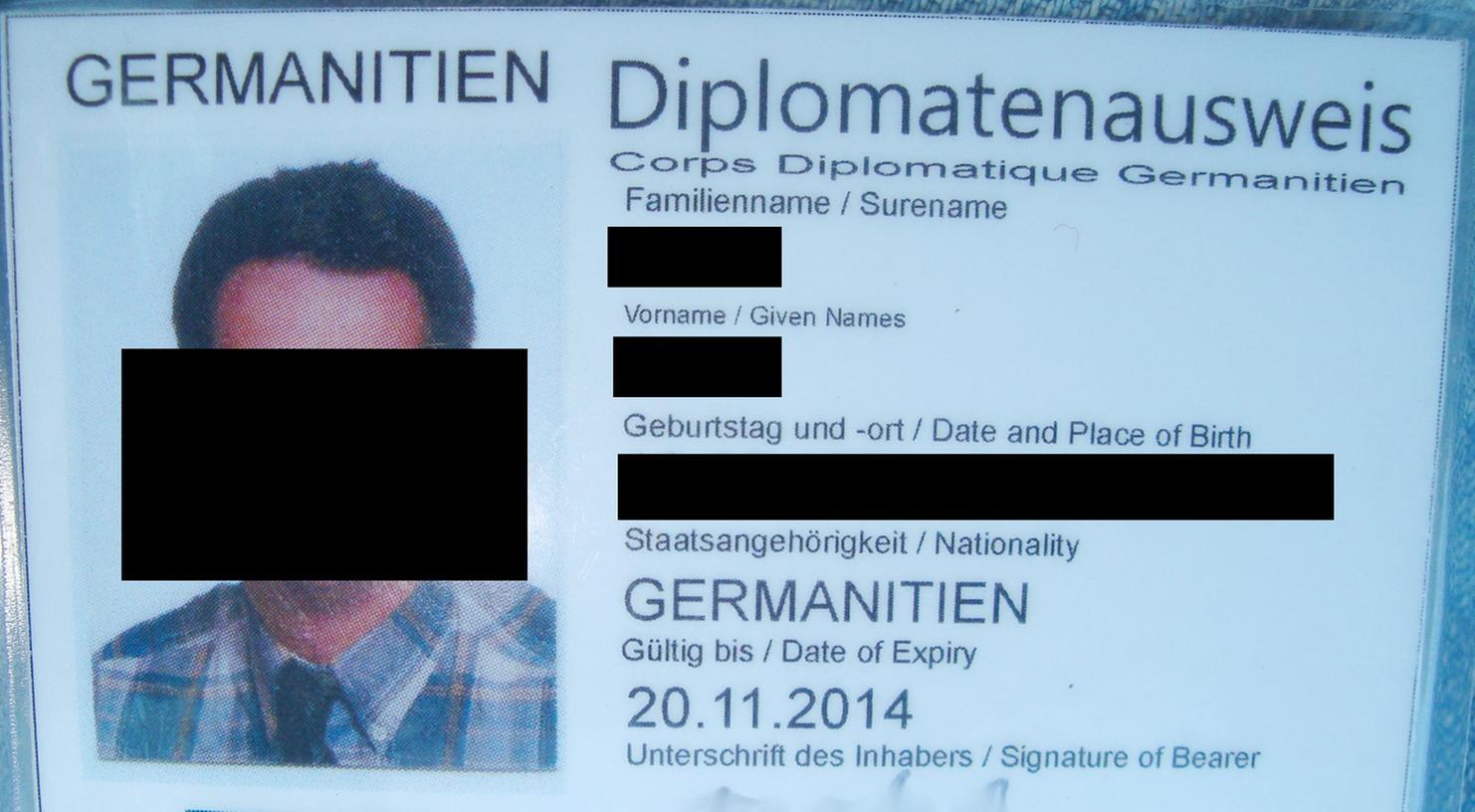 Wo liegt eigentlich dieses Germanitien? Mit einem gefälschten Diplomatenpass versuchte einer der Angeklagten wieder nach Deutschland einzureisen.