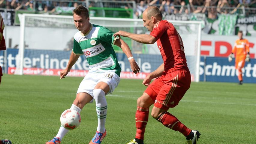 Ohne sichtbare Nervosität oder Angst vor großem Namen bestritten Felix Klaus & Co. die Zweikämpfe gegen die Bayern-Stars.