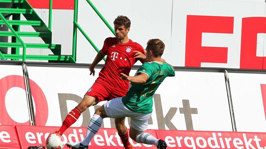 Mit ihrer kompakten und gut organisierten Spielweise machten die Mannen von Mike Büskens den Bayern das Leben lange Zeit schwer.