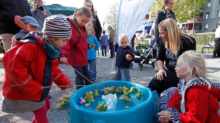 Einen besonderen Fang konnten die Kinder an diesem Becken mit der Tigerente machen.