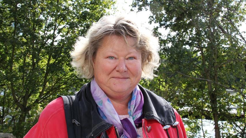Gabi Satzinger ist von der Aufwertung des Wöhrder Sees begeistert.