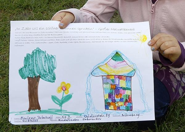 So schaut das Bild der fünfjährige Marlene aus, die den Malwettbewerb gewonnen hat.