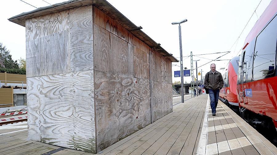 Es gibt noch einiges zu tun im Fürther Bogen: So ist der Bahnsteig am Haltepunkt Unterfarrnbach immer noch ein Provisorium. In diesem Jahr wird sich das auch nicht mehr ändern.