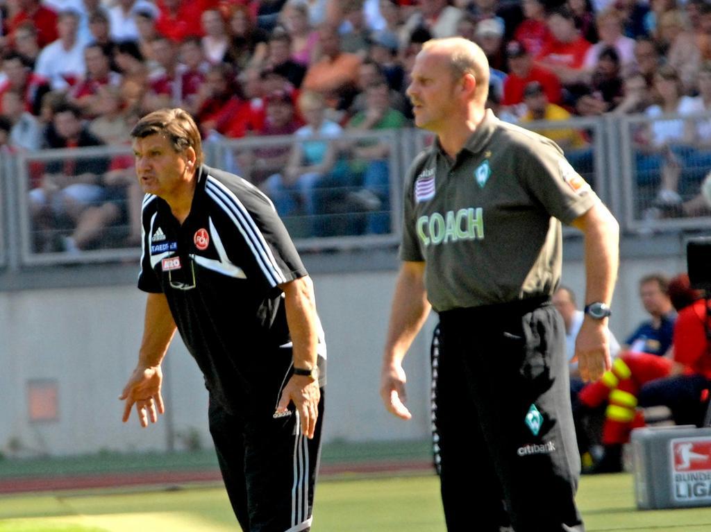 RESSORT: Sport 25.8.07 FOTOGRAF: Karlheinz Daut MOTIV: Fußball, FCN - Werder Bremen, Hans Meyer, Thomas Schaaf