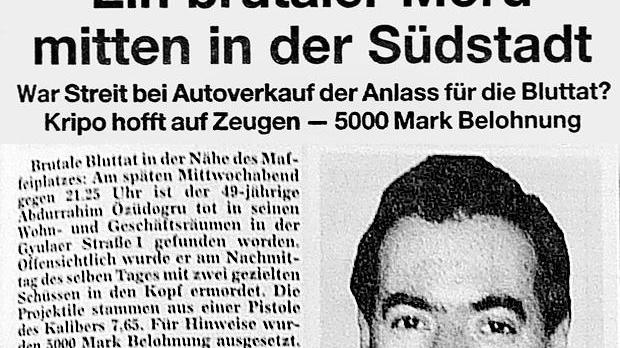 So berichtete die Nürnberger Zeitung am 16. Juni 2001 über den Mord an Abdurrahim Özüdogru. Die Dimension dieser Mordserie erahnte damals keiner.
