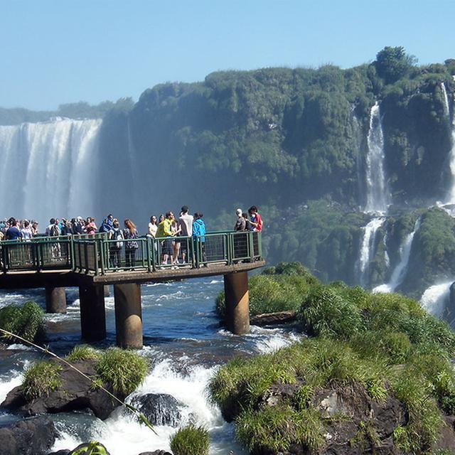Die Wasserfälle in Iguaçu.
