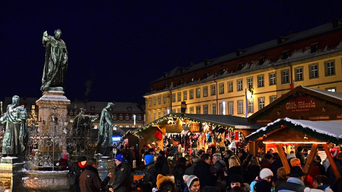 Impressionen vom Weihnachtsmarkt in Bamberg im Jahr 2017.
